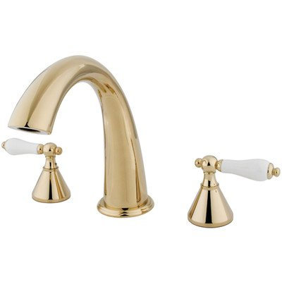 Tub Charles Roman - St. Charles Double Handle Deck Mount Roman Tub Faucet Finish: Polished Brass