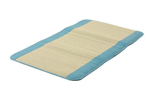 イケヒコ い草 ごろ寝マット 国産 『さわやか R縁Jrマット』 ブルー 約70×120cm 7514309
