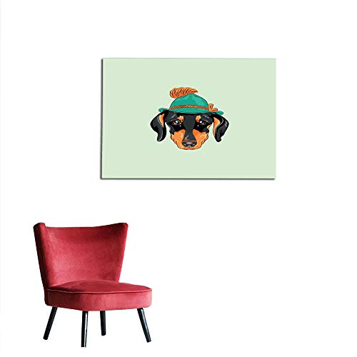 Mural Decoration Dachshund,Hipster Pure Breed Dog Silhouette for sale  Delivered anywhere in Canada