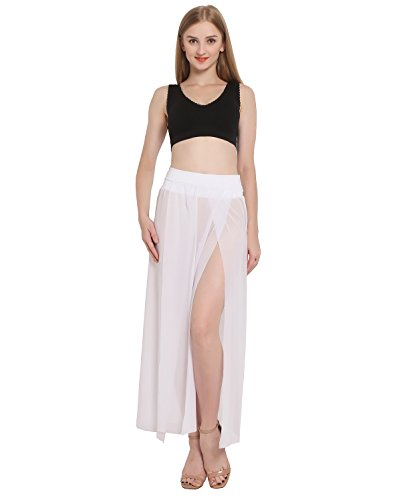 3a5441db23b JAKY Womens Sheer Sarong Side Slit Beach Skirt Maxi Swimsuit Cover UPS  Swimwear