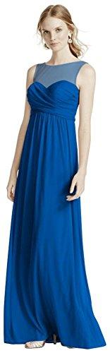 Extra Horizon Length Bridesmaid Dress Bridal Mesh David's Illusion Neckline 4XLF15927 Style qwFv5EW