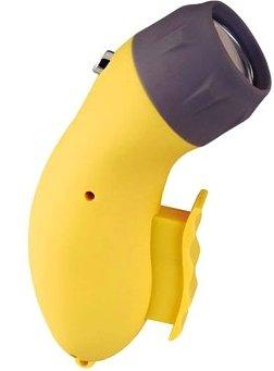 Sports Imports 2X Dynamo 1 LED Squeeze Emergency Flashlight with DC Charging Socket, 9V (Squeeze Flashlight Powered)