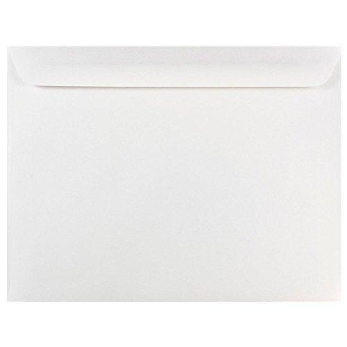 """JAM Paper 10"""" x 13"""" Booklet Envelopes - White - 25/pack"""