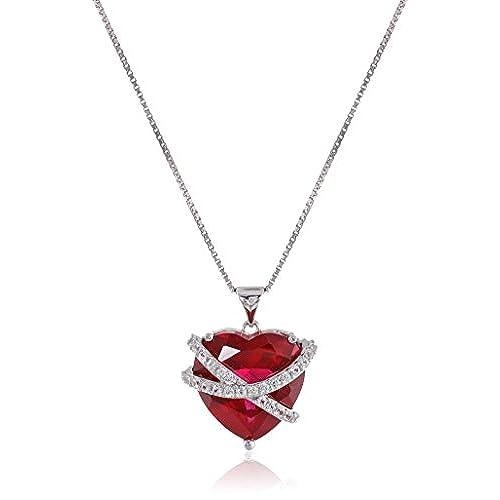 Ruby pendant necklace amazon aloadofball Image collections