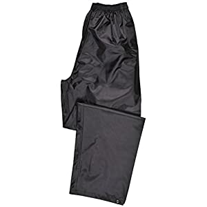 Portwest S441 Rainwear Men's Waterproof Rain Pants, Medium, Black