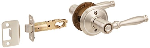Schlage F40 BIR 619 16-080 10-027 Birmingham Bed and Bath Lever, Satin Nickel