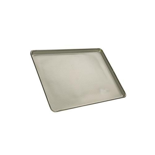 Focus Foodservice Half Size 16 Gauge Glazed Aluminum Fully Perforated Sheet Pan, 13 x 18 x 1 inch -- 12 per case. by Focus Foodservice (Image #1)