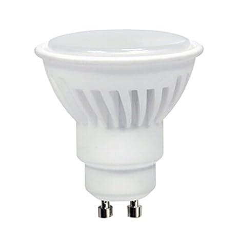 Dicroica GU10 LED 8W SMD de cerámica en Luz blanca 4000K 700Lm. Muy alta luminosidad!: Amazon.es: Iluminación