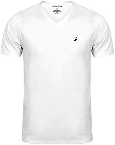 Nautica Men`s Short Sleeve Solid Classic fit Fit V-Neck T-Shirt