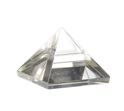 Myhealingworld Crystal Pyramid Natural Clear Quartz for Prosperity & Chakra Healing Balancing (Size 2 x 2 x 2 cm Approx) ()