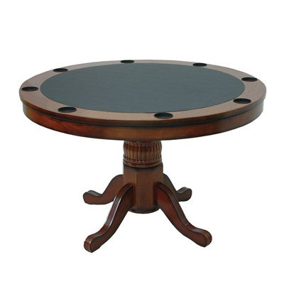 Round Poker Table Finish: Black by RAM Gameroom