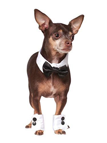 Rubie's Bowtie and Cuff Set Pet Accessories, Small/Medium -