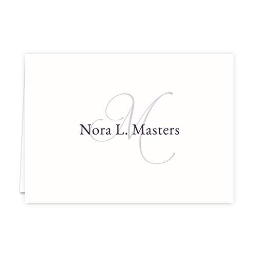 Monogramed Notecard Foldover Personalized Stationery - Set of 12 - 12 plain, white envelopes Photo #4