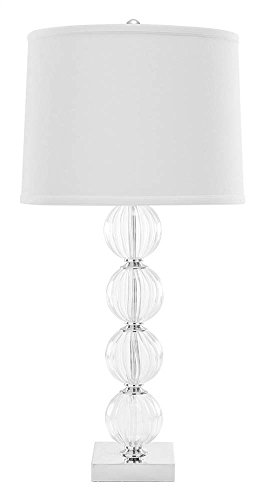 Safavieh Lighting Collection Amanda White Crystal Glass Globe 31-inch Table ()