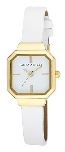 Laura Ashley Women's LA31004WT Analog Display Japanese Quartz White Watch (Heart Rate Monitor Watch Petite)