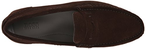 Hugo Boss Boss Black Mens Florios Slip-On Loafer Dark Brown g7mJZ5Bl