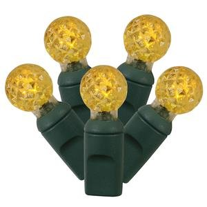 Vickerman 100 Count Single Mold G12 Berry LED Light Set with Green Wire, Yellow