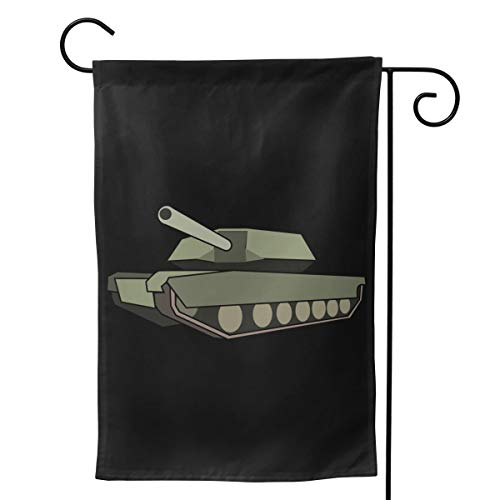 Desdemona Sakura Army Tank Seasonal Garden Flags for Outdoors 12.5 X 18/28 X 40 Inch Outdoor Yard Flags Decorative House Yard Flag | Double Sided