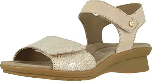 Mephisto Women's Pattie Sandals Light Taupe Silk/Nude Crash 12 M US