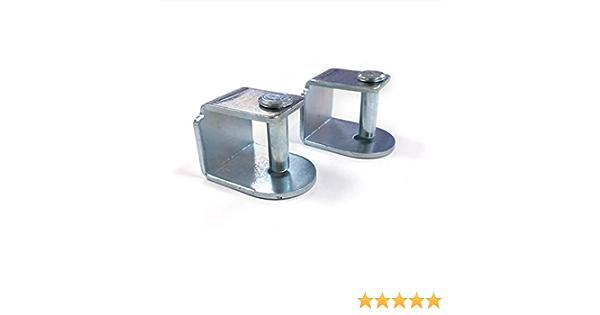Dreaming Kamahaus Pack de Abrazaderas para somier | 5 Unidades | Apta para Patas con Tornillo de 10mm |Compatible con somier de 30x40 | Acero |