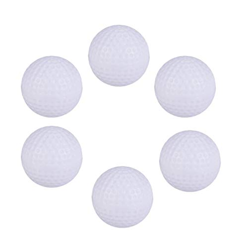 STOBOK Perforated Balls Golf Practice Balls Air Flow Hollow Golf Balls Sports Training Ball with Silicone Golf Ball…