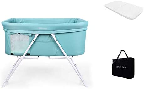 XM-ベビーベッド ベビーベッド 折り畳み式ベビーベッド旅行の携帯用折りたたみ多機能の新生の赤ん坊の揺りかごのベッド (Color : Green)