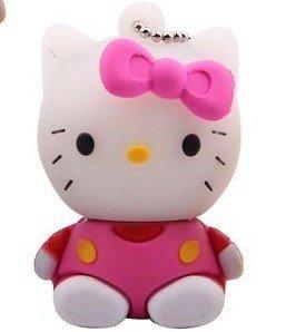 Newdigi? High Quality 32GB Hello Kitty Shape USB Flash Memory Driv Key pendant +gift box