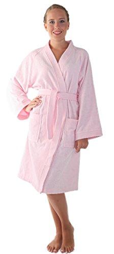 Arus Women's Short Kimono Lightweight Bathrobe Turkish Co...