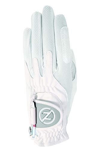 Zero Friction Women's Golf Gloves, Left Hand, One Size, White ()