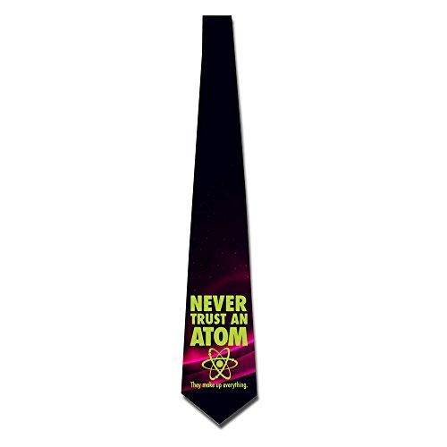 NANA Men's Never Trust An Atom Skinny Tie Irish Coffee Stems