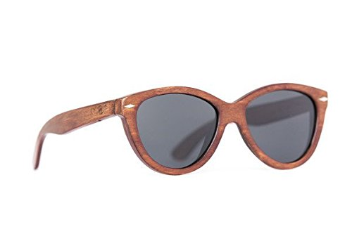 Proof Eyewear Unisex Bannock Black Tiger Camo Eco Wood Handcrafted Water Resistant Wooden Sunglasses,  Mahogany,  55 - Sunglasses Mahogany Womens