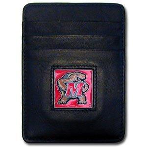 - Siskiyou NCAA Maryland Terps Leather Money Clip/Cardholder