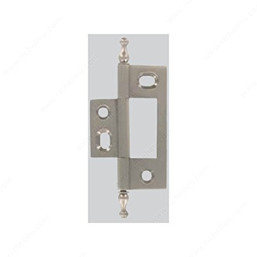 Solid Brass Hinge - Minaret Tip - Non-Mortise, Finish Polished Nickel (Nickel Polished Non Hinge Mortise)