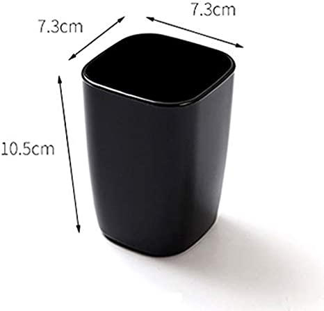 Color : White BLRYP Tooth Cup Creative Brushing Cup Household Couples Toothbrush Cup Cute Simple Black and White Thick Plastic Brushing Cup Toothbrush Holder,Mouth Cup