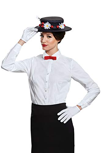 Disguise Women's Mary Poppins Accessory Kit-Adult Costume, Black, One Size