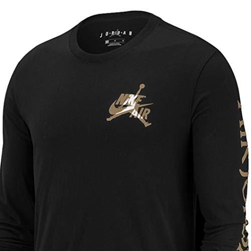 Nike Men's Jordan Mashup Classics Long-Sleeve Classics Crew T-Shirt AT8897-012 Size 2XL 3