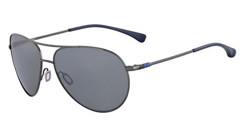 Nike EV0634-904 Vintage MDL 82 Sunglasses (One Size), Gunmetal/Navy, Grey with Silver Flash - Sunglasses Nike Vintage