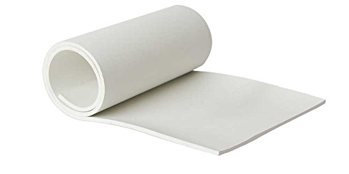 Neoprene Food Grade FDA Compliant 1/8'' (0.125'') Thick 24'' x 48'' White Rubber Sheet. by Allstate Gasket