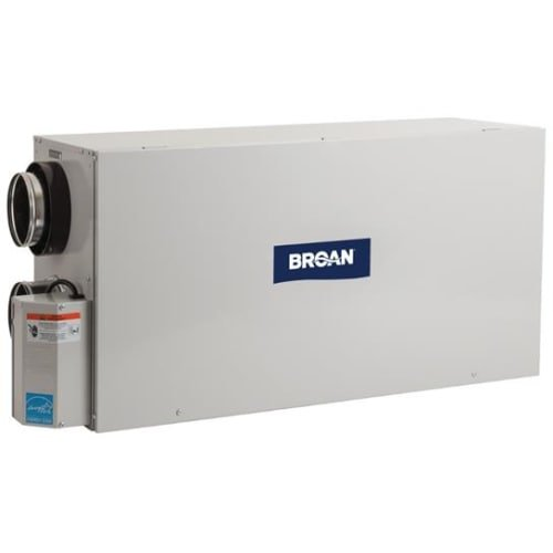 Broan ERVH100S 100 CFM Energy Recovery Ventilator with Side Ports, N/A by Broan
