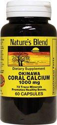 Nature's Blend Okinawa Coral Calcium 1,000 mg 60 Caps