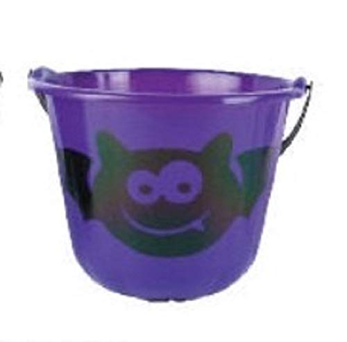 Halloween Candy Bucket- Assorted Colors and Styles ()