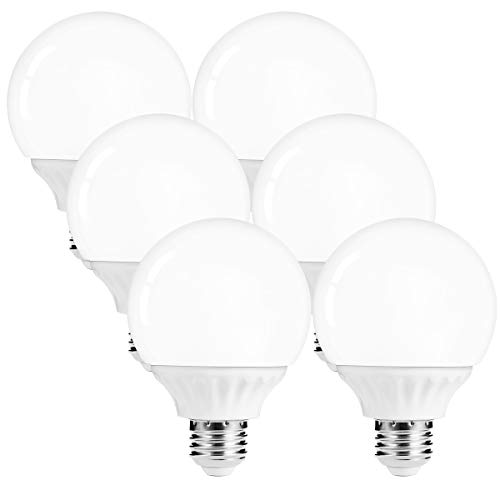 LOHAS G25 LED Globe Bulb, Vanity Light Bulb 40-45W Equivalent, Daylight (5000k) Bathroom Vanity Light, Make up Mirror LED Light for Home Lighting, E26 Edison Base 500LM, Not-Dimmable, Pack of - 44 Bulb