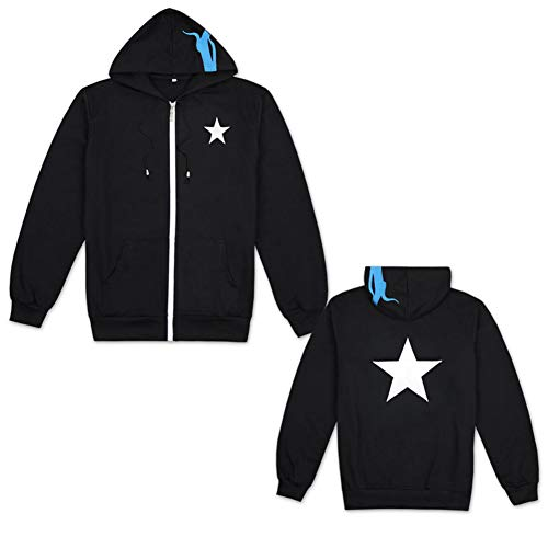 Gumstyle Black Rock Shooter Anime Long Sleeve Sweatshirts Cosplay Costume Zip up Hoodie Jacket Coat 1-M