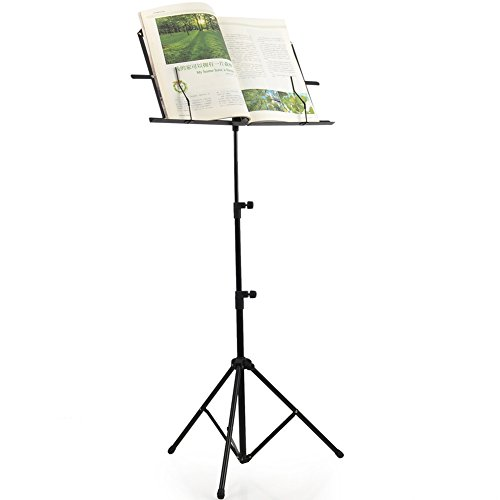 ADM Folding Adjustable Music Stand with Carrying Bag, Portable Metal Holder for Sheet Music, Black by ADM (Image #7)