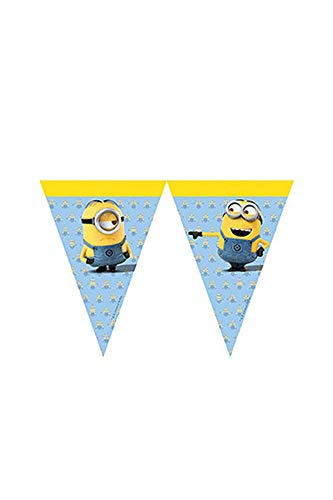 - Universal 55580 Lovely Minions Party Decoration Banner Triangle Flag