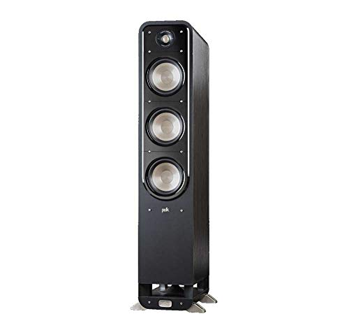 Polk Signature Series S60 Floor Standing Speaker - American HiFi Surround Sound for TV, Music, and Movies | Stylish Looks, Big Sound | Bi-wire and Bi-amp | Detachable Magnetic Grille included best to buy