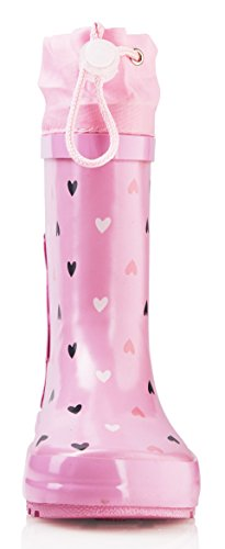 smileBaby Gummistiefel für Kinder Verschiedene Farben Motive und Größen für Mädchen und Jungen Geeignet Pink / Hase