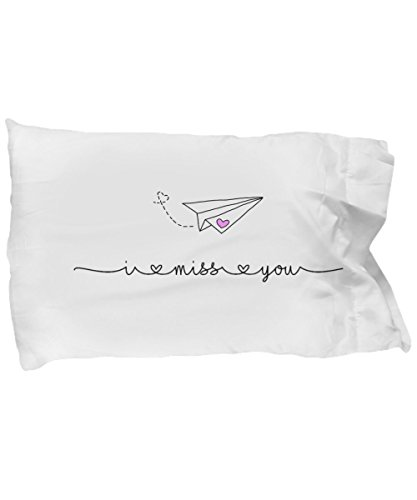 Long Distance Relationship Pillow, I miss you, Comfort Pillow, Connecting words, Paper Airplanes, Deployed gifts,long distance relationships pillow