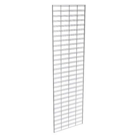 Wire Slatgrid Panel, Chrome, 2ft.x7ft, PK3