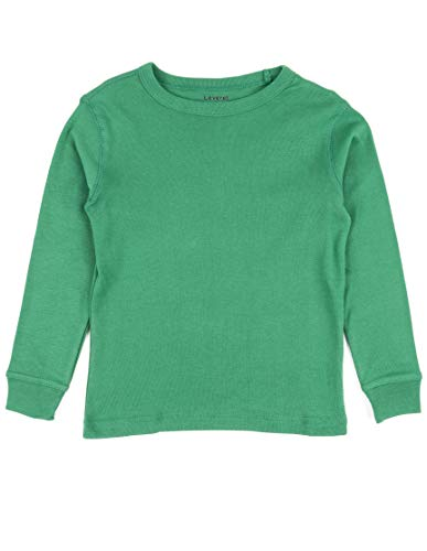 (Leveret Long Sleeve Solid T-Shirt 100% Cotton (5 Years, Green))